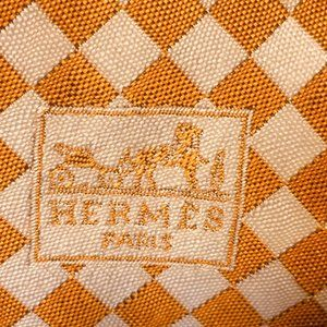 Hermès Textured Checkered Vtg Tie - AS IS